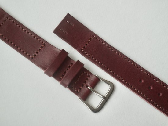 """""""anonym"""" OPEN-END LEATHER BELT (BUTTERO / BURGUNDY)"""