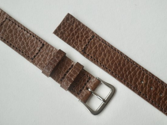 """""""anonym"""" OPEN-END LEATHER BELT (DOLLARO / BROWN)"""