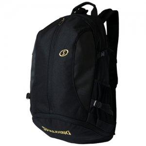 【バスケ用品が1つまとまる!!】SPALDING(スポルディング) Giant Cager Backpack(ジャイアントケイジャーバックパック/リュック) 黒/ゴールド