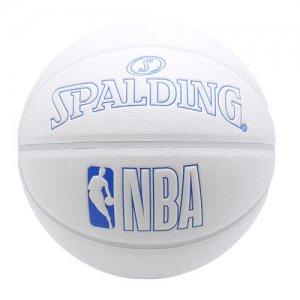 SPALDING(スポルディング)  NBA Innocence Composite Ball(NBAイノセンス合成皮革ボール) 白/ブルー/7号