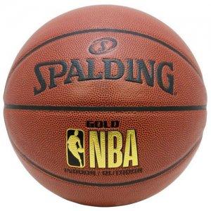SPALDING(スポルディング) NBA Gold Logo Composite Ball(NBAゴールドロゴ合成皮革ボール) ブラウン/7号