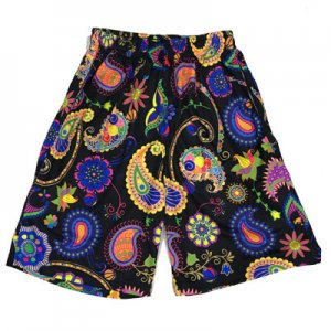 <img class='new_mark_img1' src='//img.shop-pro.jp/img/new/icons29.gif' style='border:none;display:inline;margin:0px;padding:0px;width:auto;' />HITH BOTANICAL PAISLEY SHORTS -BLACK-ボタニカル ペイズリー バスパン