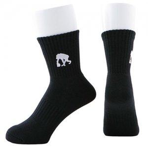 EGOZARU(エゴザル) One Point Logo Socks(ワンポイントロゴソックス/靴下)  黒/白