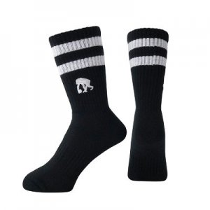 EGOZARU DOUBLE LINE SOCKS  -BLACK-エゴザル ソックス