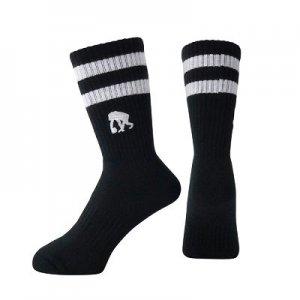 EGOZARU(エゴザル) Double Line Socks(ダブルラインソックス/靴下) 黒/白