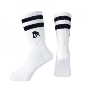EGOZARU DOUBLE LINE SOCKS  -WHITE-エゴザル ソックス