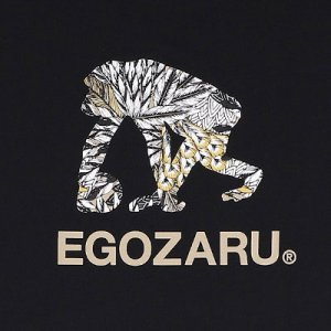 EGOZARU FEATHER LOGO TEE -BLACK -エゴザル フェザーロゴ