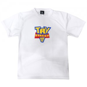 HITH(フープインザフッド) TRY STREET Dry Tee(トライストリートドライTシャツ) 白