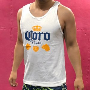 <img class='new_mark_img1' src='https://img.shop-pro.jp/img/new/icons25.gif' style='border:none;display:inline;margin:0px;padding:0px;width:auto;' />HITH×CORO Logo Tanktop(HITH×コロ・ロゴタンクトップ) 白