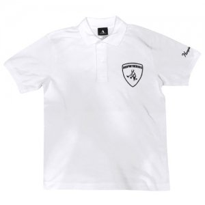 HITH(フープインザフッド) Aventaballer Emblem Polo(アヴェンタボーラーエンブレムポロシャツ) 白