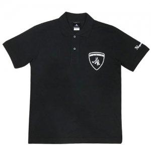 HITH(フープインザフッド) Aventaballer Emblem Polo(アヴェンタボーラーエンブレムポロシャツ) 黒