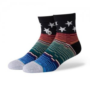 <img class='new_mark_img1' src='//img.shop-pro.jp/img/new/icons14.gif' style='border:none;display:inline;margin:0px;padding:0px;width:auto;' />STANCE(スタンス) American Glitch Qtr Socks(アメリカングリッチクウォーターソックス/靴下) 白