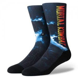 <img class='new_mark_img1' src='//img.shop-pro.jp/img/new/icons14.gif' style='border:none;display:inline;margin:0px;padding:0px;width:auto;' />STANCE(スタンス)MORTAL KOMBAT 2 Crew Socks (モータルコンバット2クルーソックス/靴下) 黒