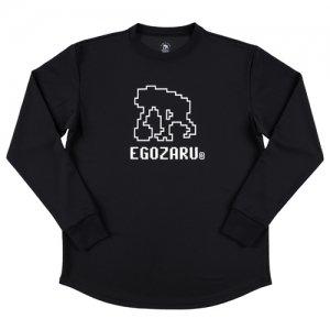 EGOZARU(エゴザル) Digital Logo Long Tee(デジタルロゴロングTシャツ/ロンT) 黒