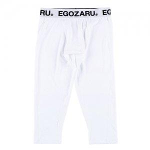 EGOZARU(エゴザル) Compression LongShorts(コンプレッションロングショーツ/3/4丈パワタイ) 白