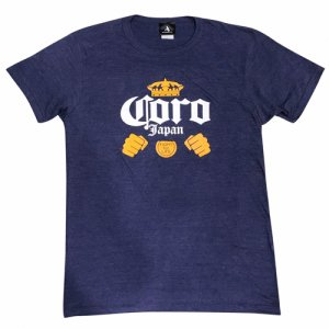 【スペシャルコラボ】HITH×CORO Logo Brend Tee(ロゴブレンドTシャツ) へザーネイビー