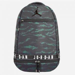 【海外限定!!】JORDAN(ジョーダン) Jumpman Skyline Tape Backpack(ジャンプマンスカイラインテープバックパック/リュックサック) グリーンカモ