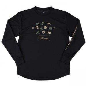EGOZARU(エゴザル) Digital Game Long Tee(デジタルゲームロングTシャツ/ロンT) 黒