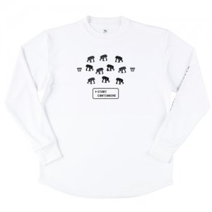 EGOZARU(エゴザル) Digital Game Long Tee(デジタルゲームロングTシャツ/ロンT) 白