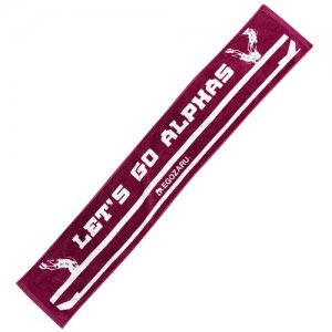 ALPHAS(越谷アルファーズ)×EGOZARU(エゴザル) Let's Go ALPHAS Muffler Towel(レッツゴーアルファーズマフラータオル) バーガンディー