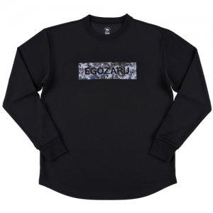 EGOZARU(エゴザル) Digicamo Box Logo Long Tee(デジカモボックスロゴロングTシャツ/ロンT) 黒