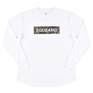 EGOZARU(エゴザル) Digicamo Box Logo Long Tee(デジカモボックスロゴロングTシャツ/ロンT) 白