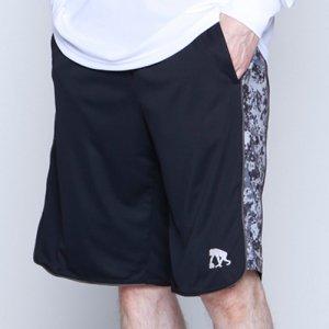 EGZARU(エゴザル) Side Digicamo Shorts(サイドデジカモショーツ/バスパン) 黒/ブラックデジカモ