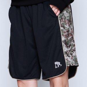 EGZARU(エゴザル) Side Digicamo Shorts(サイドデジカモショーツ/バスパン) 黒/カーキデジカモ