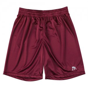 EGOZARU(エゴザル) One Point Color Shorts(ワンポイントカラーショーツ/バスパン) バーガンディー/越谷アルファーズカラー