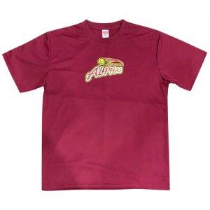 ALPHAS(越谷アルファーズ) Logo Dry Tee(ロゴドライTシャツ) バーガンディー