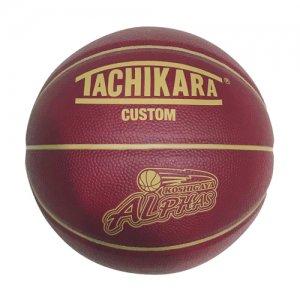 【限定コラボアイテム】ALPHAS(越谷アルファーズ)×TACHIKARA(タチカラ) Mini Basketball(ミニバスケットボール) バーガンディー/ゴールド/白