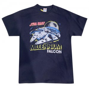 【SW公開記念30%OFF】 JUNKFOOD(ジャンクフード) Millennium Falcon Tee(ミレニアムファルコン号Tシャツ) 紺