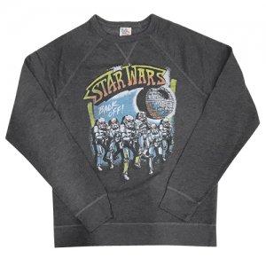 【SW公開記念セール30%OFF】JUNKFOOD(ジャンクフード) STAR WARS Back Off Sweat Shirts(スターウォーズバックオフスウェットシャツ) ブラックへザー