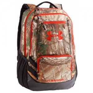 UNDER ARMOUR(アンダーアーマー)  Camo Hastle Backpack(カモハッスルバックパック/リュックサック) リアルツリー/オレンジ