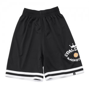 【キッズサイズアパレル】SPALDING(スポルディング) Junior Practice Shorts(ジュニアプラクティスショーツ) 黒/白