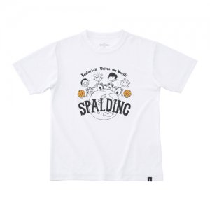 【キッズサイズアパレル】SPALDING(スポルディング) Junior World Tee(ジュニアワールドTシャツ) 白