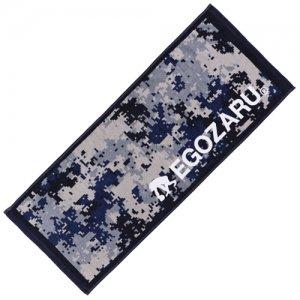 EGOZARU(エゴザル) Digicamo Face Towel(デジカモフェイスタオル) ブルー