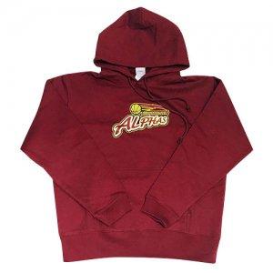ALPHAS(越谷アルファーズ) Logo Hoodie(ロゴフーディー/パーカ) バーガンディー