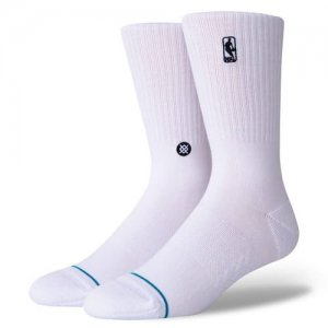 STANCE(スタンス) NBA Logoman ST Socks(NBAロゴマンSTソックス/靴下) 白