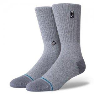 STANCE(スタンス) NBA Logoman ST Socks(NBAロゴマンSTソックス/靴下) グレーヘザー