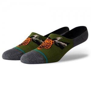 STANCE(スタンス) Big Cat Noshow Socks(ビッグキャット・ノーショウソックス/靴下) グリーン