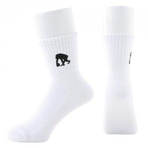 EGOZARU(エゴザル) One Point Logo Socks(ワンポイントロゴソックス/靴下) 白/黒