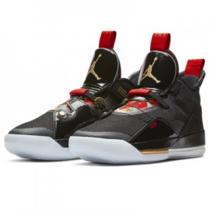 <img class='new_mark_img1' src='//img.shop-pro.jp/img/new/icons30.gif' style='border:none;display:inline;margin:0px;padding:0px;width:auto;' />【ラスト1足!!!】AIR JORDAN XXXIII PF(エアジョーダン33PF) CHINA EDITION 黒/ゴールド/赤