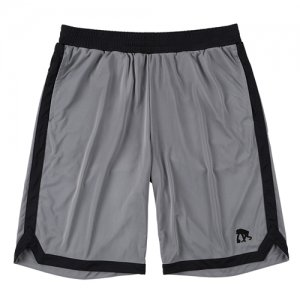 EGZARU(エゴザル) Hem Slit Shorts(ヘムスリットショーツ/バスパン) グレー/黒