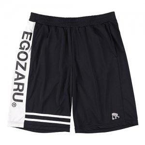 EGZARU(エゴザル) Double Line Shorts(ダブルラインショーツ/バスパン) 黒/白