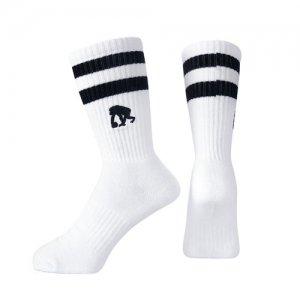 EGOZARU(エゴザル) Double Line Socks(ダブルラインソックス/靴下) 白/黒
