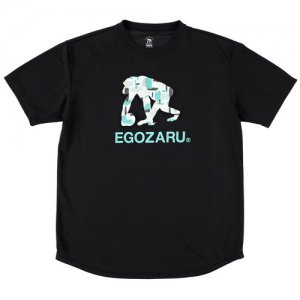 EGOZARU(エゴザル) Gouache Logo Tee(ガッシュロゴTシャツ) 黒