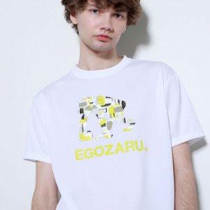 EGOZARU(エゴザル) Gouache Logo Tee(ガッシュロゴTシャツ) 白