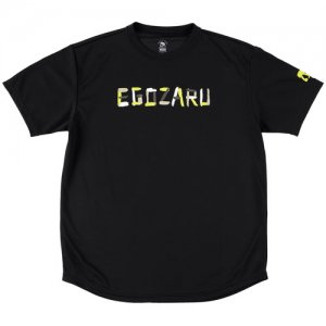 EGOZARU(エゴザル) Letter Gouache Tee(レターガッシュTシャツ) 黒
