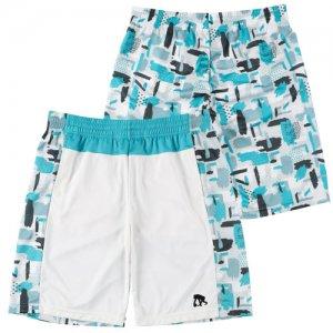 EGZARU(エゴザル) Front Switching Gouache Shorts(フロントスウィッチングガッシュショーツ/バスパン) 白